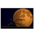 Wallpaper halloween moon spider vector image vector image