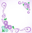 wedding frame card floral calligraphic elements vector image vector image