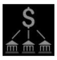 white halftone bank organization icon vector image vector image