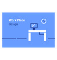 work place concept rental office coworking area vector image