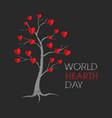 world hearth day tree design vector image