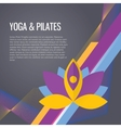 Yoga sport gym background vector image vector image