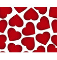 background of red hearts on the day of the holiday vector image
