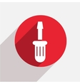 modern screwdriver red circle icon vector image