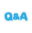 Questions and answers design vector image
