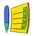 to do list icon cartoon vector image