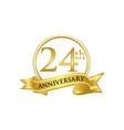 24th anniversary celebration logo vector image vector image