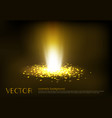 a golden light ray with vector image vector image