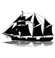 a large sailing ship vector image