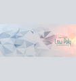abstract gray geometric low poly banner design vector image vector image