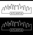 atlanta skyline linear style editable file vector image vector image