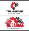 automotive piston gear workshop logo design