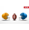 Background of competition in American football vector image vector image