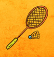 Badminton Cartoon vector image vector image