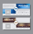 banner design for the social network vector image vector image