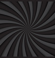 black and grey swirl background rotating spiral vector image vector image