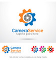 camera logo template vector image