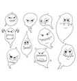 cartoon set of ghosts vector image