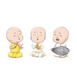cartoon vaisnava devotees vector image