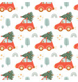 christmas with tree pattern tree vector image vector image