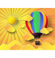 colurful hot air balloon with sunrise vector image