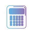 contour calculator technology with buttons design vector image