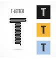 Creative T - letter icon abstract logo design vector image vector image