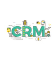 CRM Customer relationship management vector image