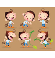 cute monkey boy character vector image