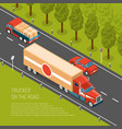 delivery truck isometric vector image vector image