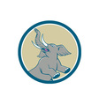Elephant Prancing Circle Cartoon vector image vector image