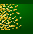 falling coins golden vector image