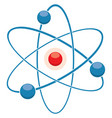flat icon of abstract atom or molecule model vector image