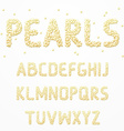 Font pearls Alphabet made of pearls Letters for vector image