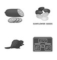 food sport and other monochrome icon in cartoon vector image vector image