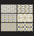 geometrical pattern contemporary textures fabric vector image