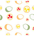 hand draw colorful lemon seamless pattern vector image