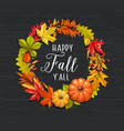 happy fall y all card vector image