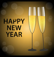 happy new year gold and vector image