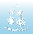 Happy New Year Greeting card with snowflakes vector image vector image