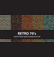 heart pattern set retro 70s seamless vector image