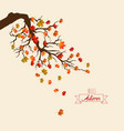 hello autumn autumn landscape with autumn leaves vector image