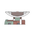 hong kong famous modern building icon sketch vector image