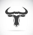 image of an wildebeest head design vector image vector image