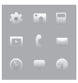 interface icon set vector image