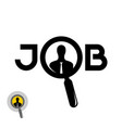 job search icon with zoom glass and man vector image