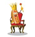 king hot dog vector image vector image