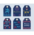 Knitted Sweater gift tags 1 vector image vector image