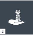 loan money related glyph icon vector image