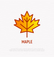 maple leaf thin line icon modern vector image